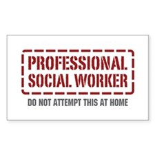Professional Social Worker Rectangle Decal