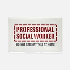 Professional Social Worker Rectangle Magnet (100 p