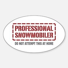 Professional Snowmobiler Oval Decal