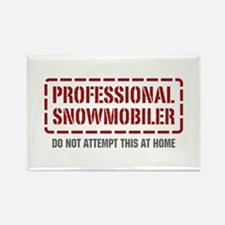 Professional Snowmobiler Rectangle Magnet