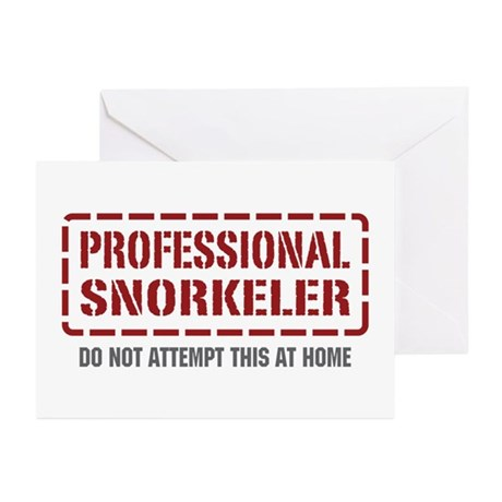 Professional Snorkeler Greeting Cards (Pk of 10)
