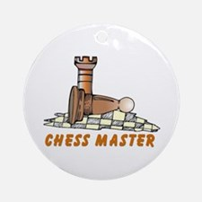 Chess Master Dad Ornament (Round)