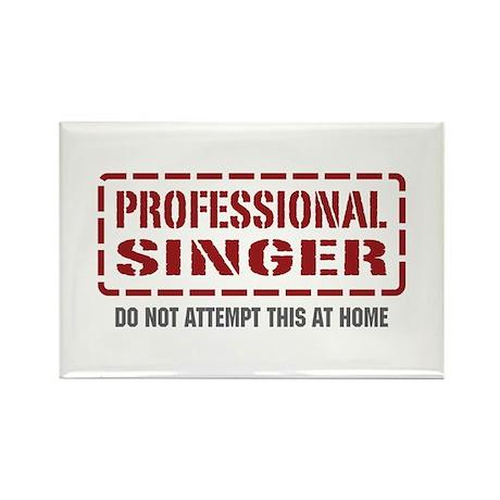 Professional Singer Rectangle Magnet