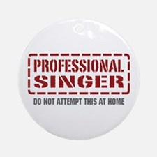 Professional Singer Ornament (Round)