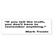 Mark Twain Truth Quote Bumper Bumper Sticker