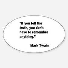 Mark Twain Truth Quote Oval Decal