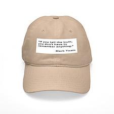 Mark Twain Truth Quote Baseball Cap