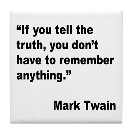 Mark Twain Truth Quote Tile Coaster