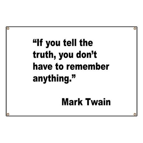 Mark Twain Truth Quote Banner