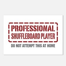 Professional Shuffleboard Player Postcards (Packag