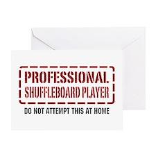 Professional Shuffleboard Player Greeting Card