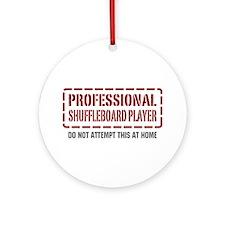 Professional Shuffleboard Player Ornament (Round)