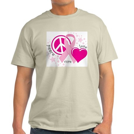 BC Peace Love Cure Light T-Shirt