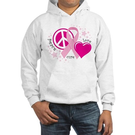 BC Peace Love Cure Hooded Sweatshirt