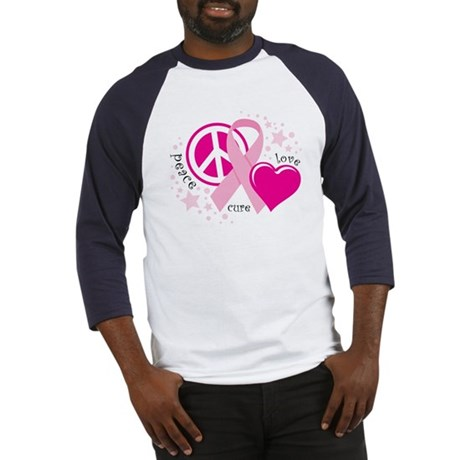 BC Peace Love Cure Baseball Jersey