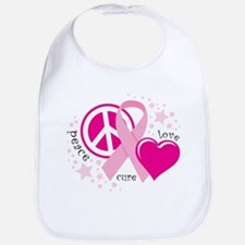 BC Peace Love Cure Bib