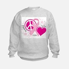 BC Peace Love Cure Sweatshirt