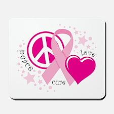 BC Peace Love Cure Mousepad