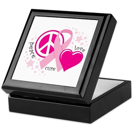BC Peace Love Cure Keepsake Box