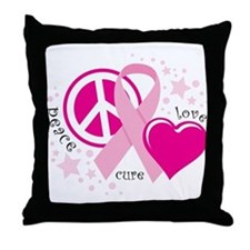 BC Peace Love Cure Throw Pillow