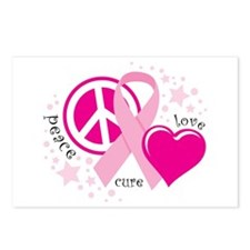 BC Peace Love Cure Postcards (Package of 8)