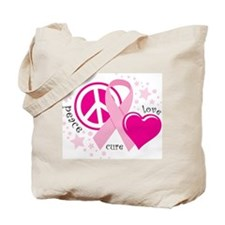 BC Peace Love Cure Tote Bag