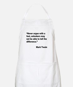 Mark Twain Fool Quote BBQ Apron