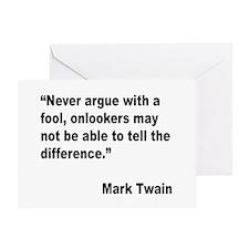 Mark Twain Fool Quote Greeting Card