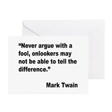 Mark Twain Fool Quote Greeting Cards (Pk of 20)