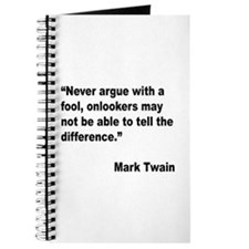 Mark Twain Fool Quote Journal