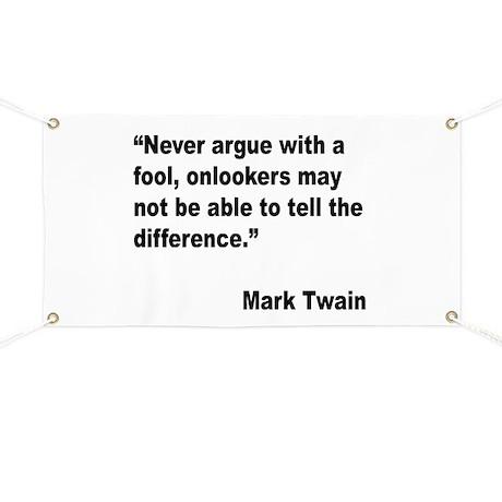 Mark Twain Fool Quote Banner