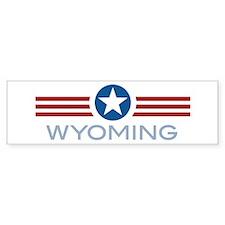 Star Stripes Wyoming Bumper Bumper Sticker