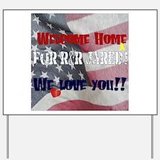Funny Military homecoming Yard Sign