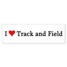I Love Track and Field Bumper Bumper Sticker