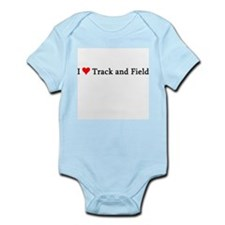 I Love Track and Field Infant Creeper