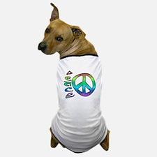 Rainbow Peace Dog T-Shirt