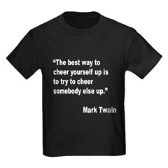 Mark Twain Cheer Quote (Front) T