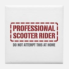 Professional Scooter Rider Tile Coaster