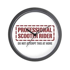 Professional Scooter Rider Wall Clock