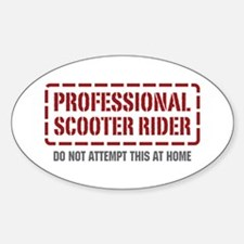 Professional Scooter Rider Oval Decal