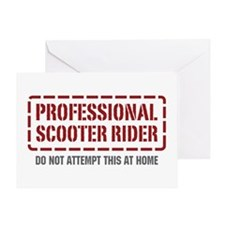 Professional Scooter Rider Greeting Card