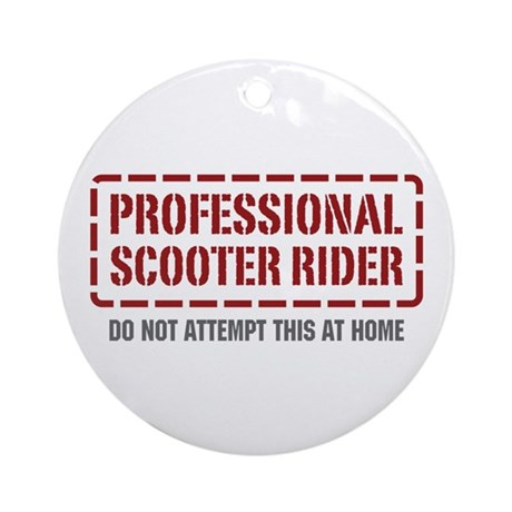 Professional Scooter Rider Ornament (Round)