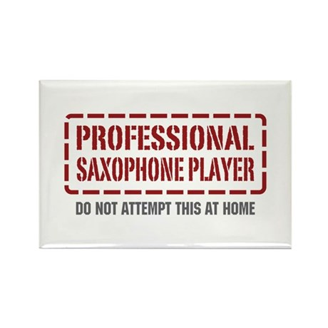 Professional Saxophone Player Rectangle Magnet (10