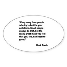 Mark Twain Great People Quote Oval Decal
