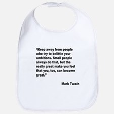 Mark Twain Great People Quote Bib