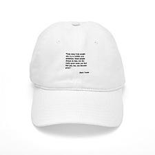 Mark Twain Great People Quote Baseball Cap