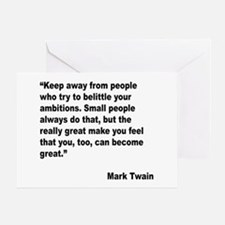 Mark Twain Great People Quote Greeting Card