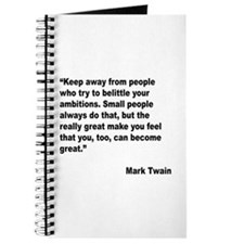 Mark Twain Great People Quote Journal
