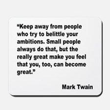 Mark Twain Great People Quote Mousepad