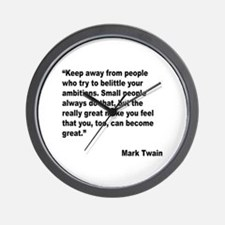 Mark Twain Great People Quote Wall Clock